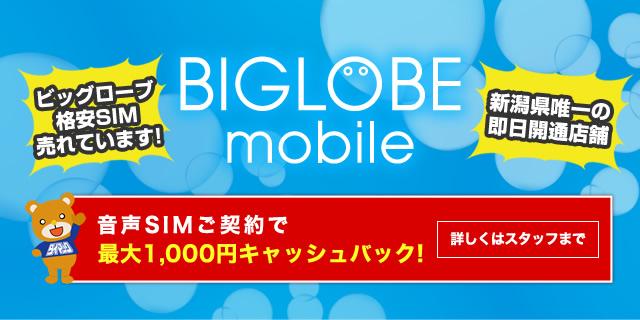 BIGLOBE 格安SIM 売れています!